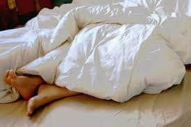 lumpy comforter