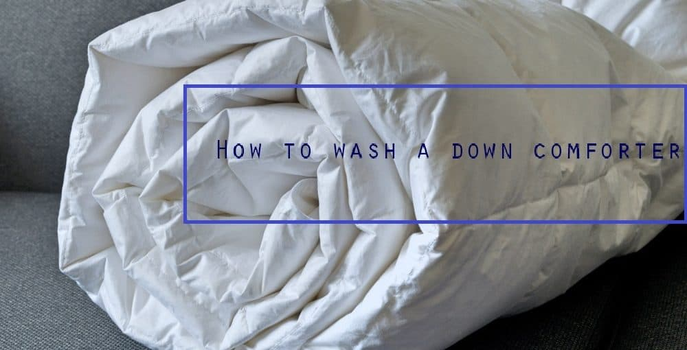 how to dry clean a down comforter at home